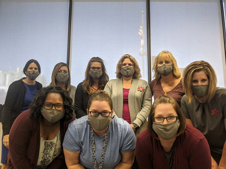 Kellogg of Omaha, Staff in masks